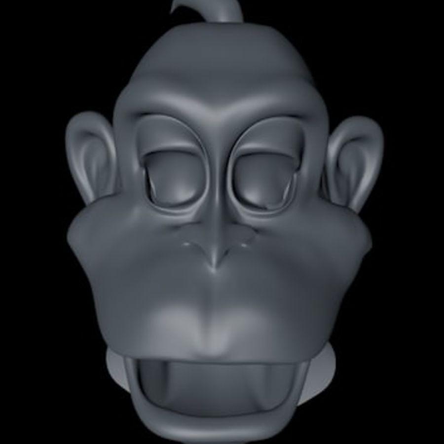 원숭이 royalty-free 3d model - Preview no. 3