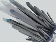 Cristal Design Skulptur 3d model