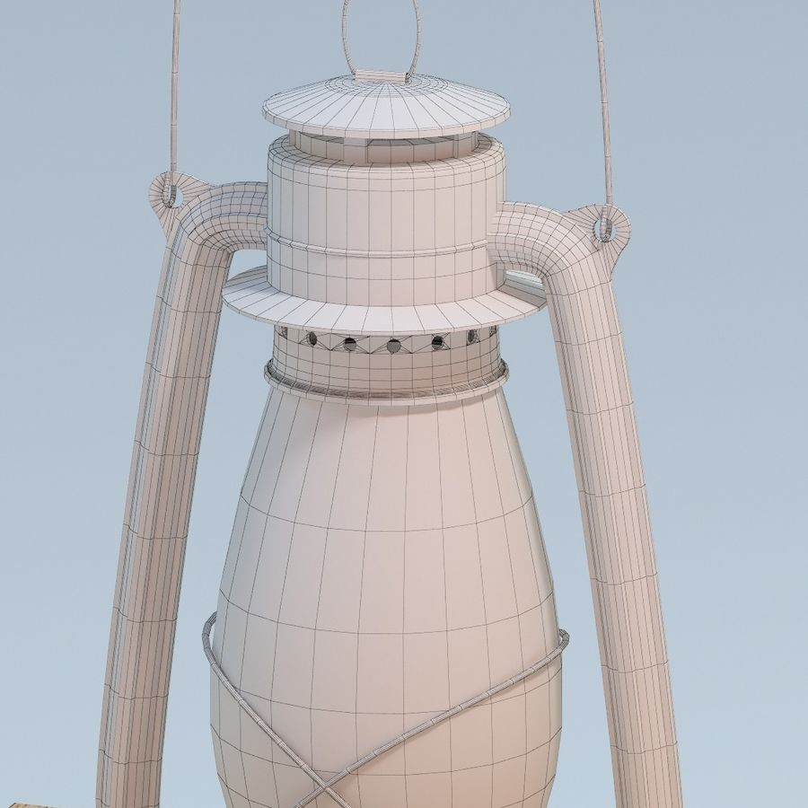 Oil Lamp royalty-free 3d model - Preview no. 7