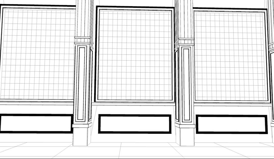 store front royalty-free 3d model - Preview no. 2