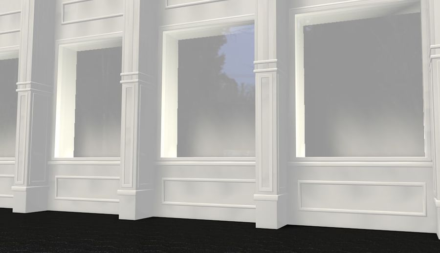 store front royalty-free 3d model - Preview no. 1