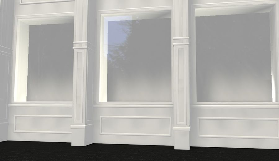 store front royalty-free 3d model - Preview no. 4