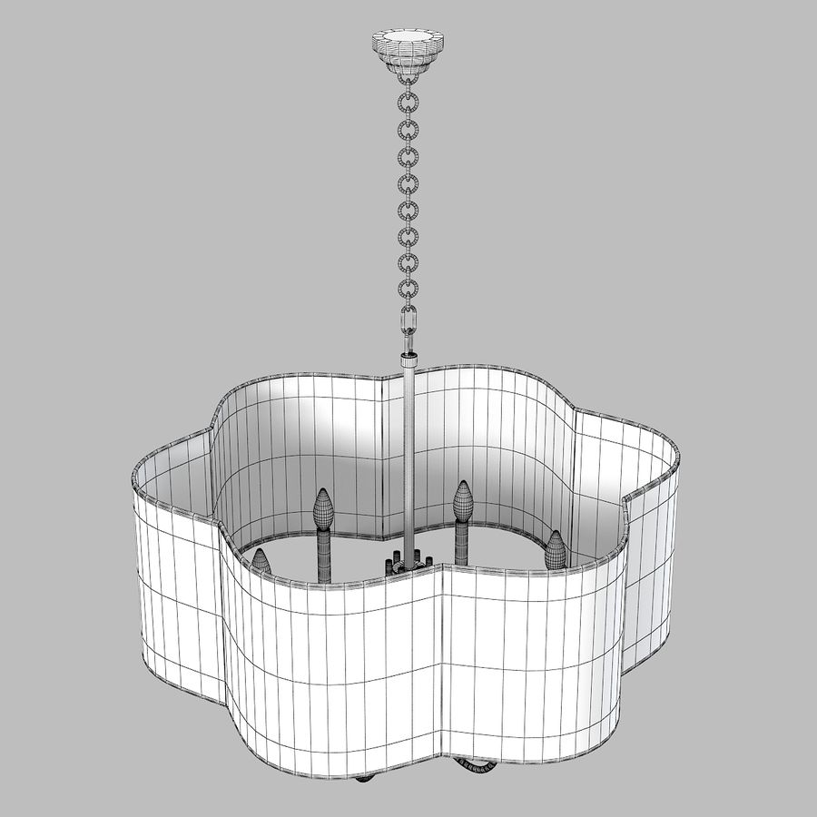 Arteriors Home Chandelier royalty-free modelo 3d - Preview no. 4