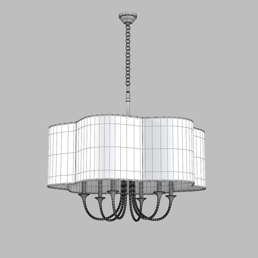 Arteriors Home Chandelier royalty-free modelo 3d - Preview no. 5