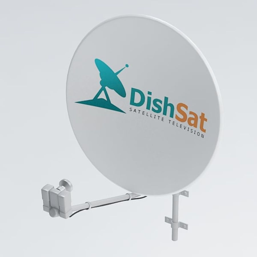 Satellite receiver005 royalty-free 3d model - Preview no. 3