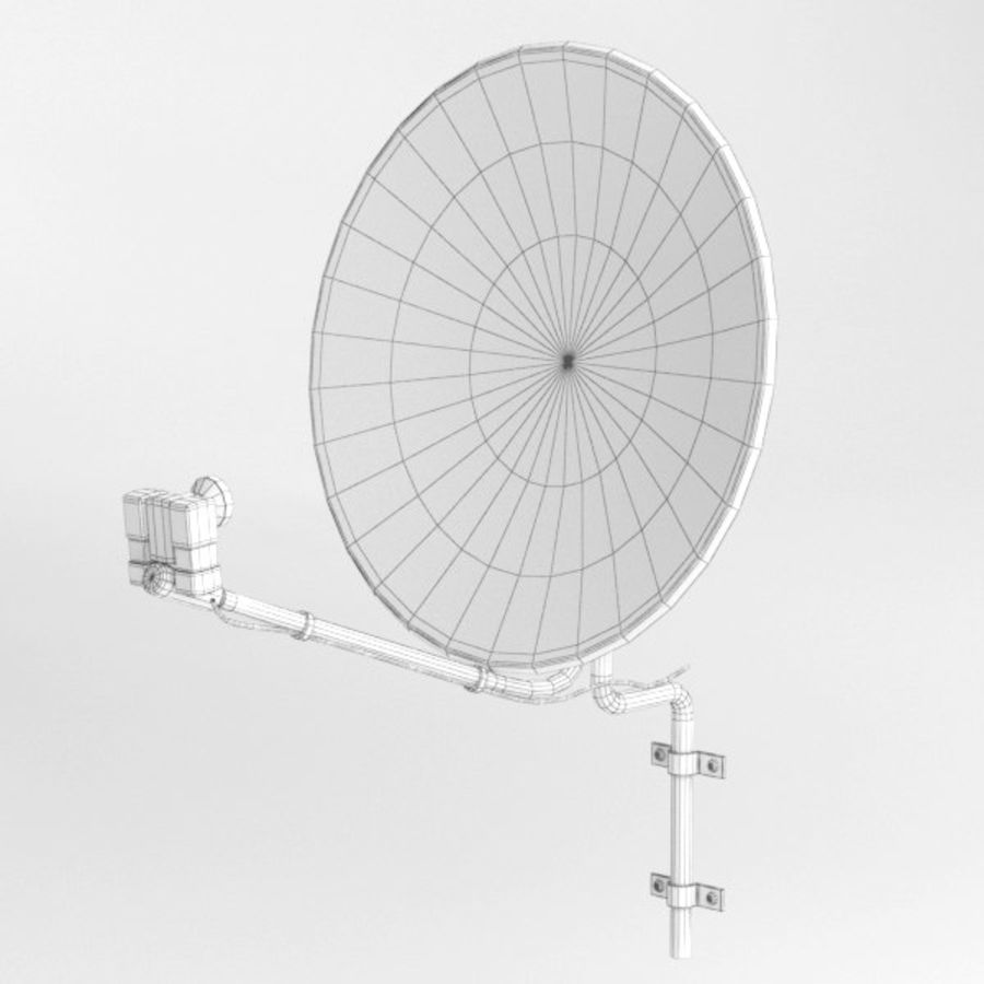 Satellite receiver005 royalty-free 3d model - Preview no. 5