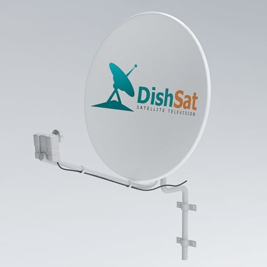 Satellite receiver005 royalty-free 3d model - Preview no. 2