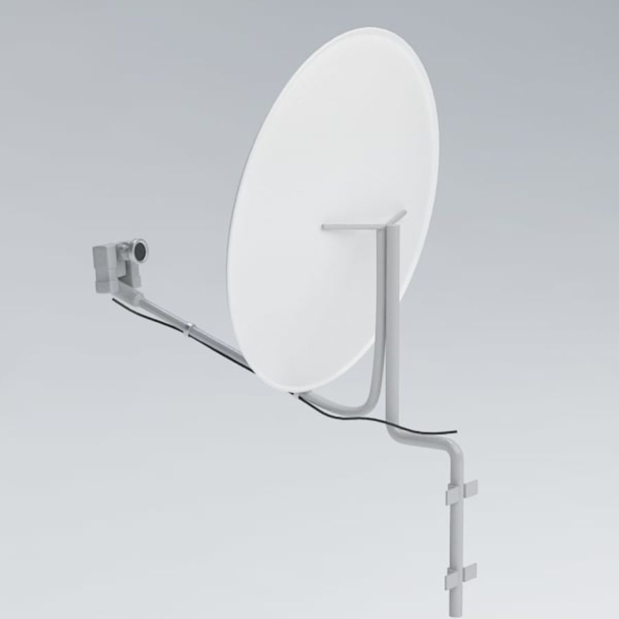 Satellite receiver005 royalty-free 3d model - Preview no. 4