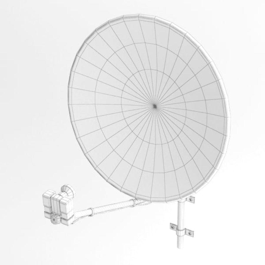 Satellite receiver005 royalty-free 3d model - Preview no. 6