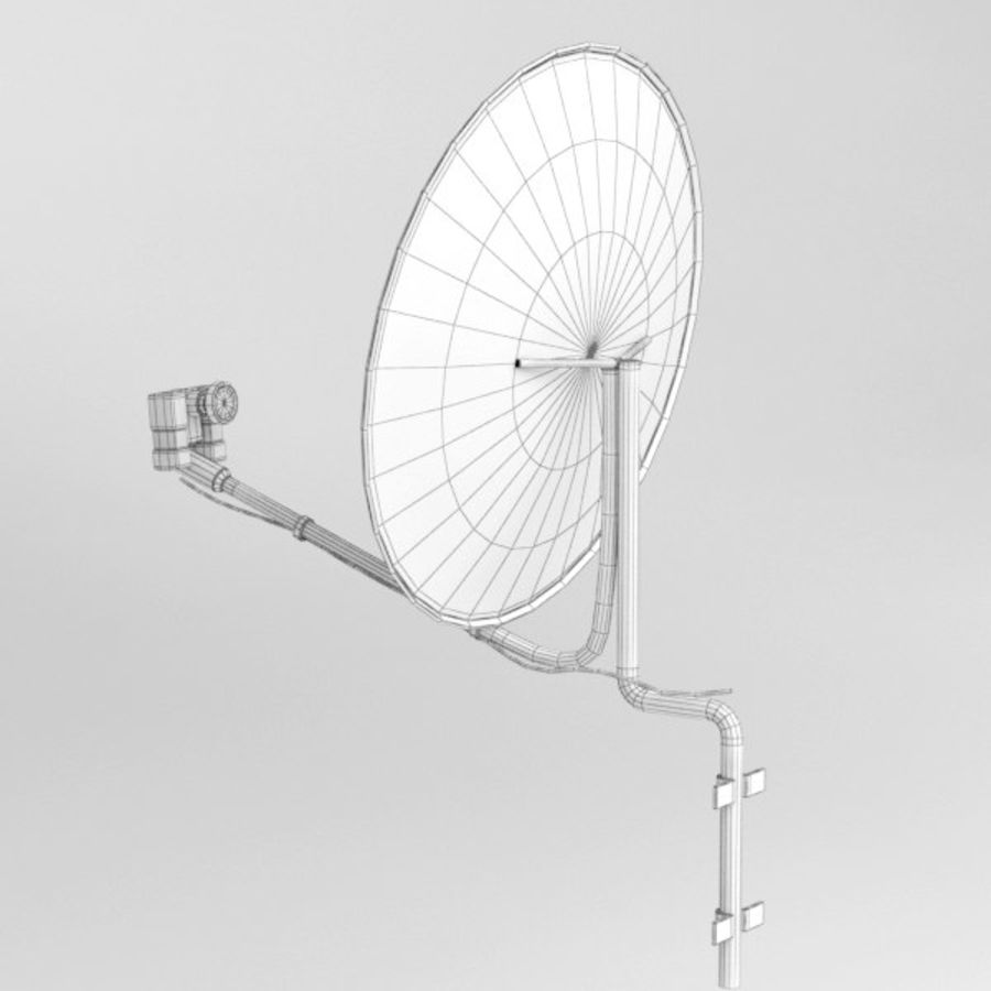 Satellite receiver005 royalty-free 3d model - Preview no. 7