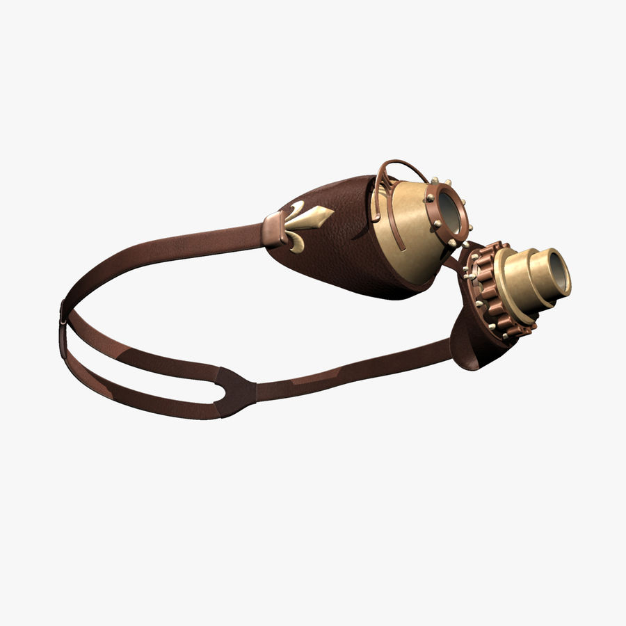 SteamPunk Goggles IS-I royalty-free 3d model - Preview no. 5