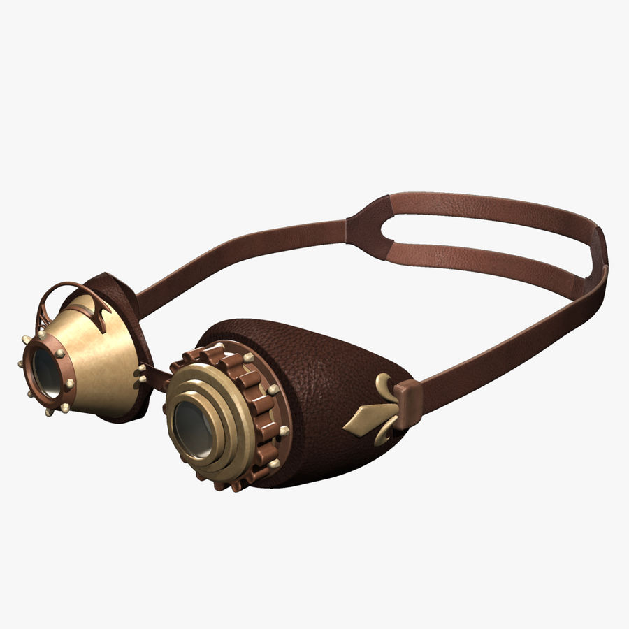 SteamPunk Goggles IS-I royalty-free 3d model - Preview no. 2