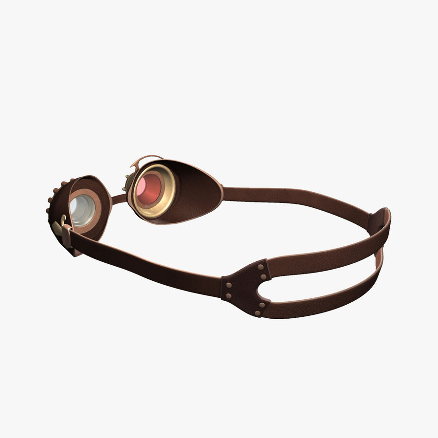 SteamPunk Goggles IS-I royalty-free 3d model - Preview no. 4