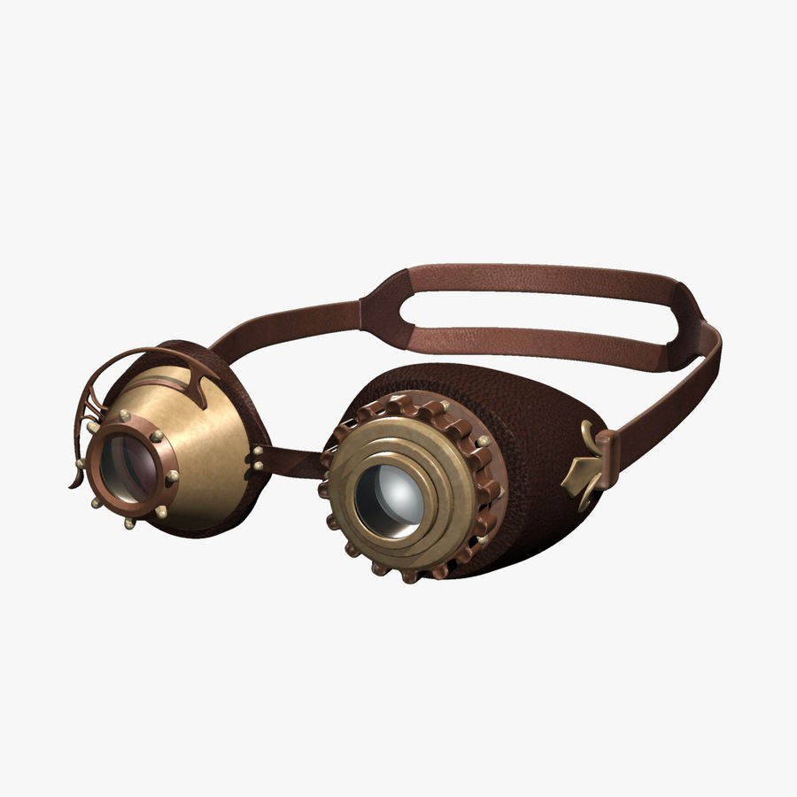 SteamPunk Goggles IS-I royalty-free 3d model - Preview no. 1