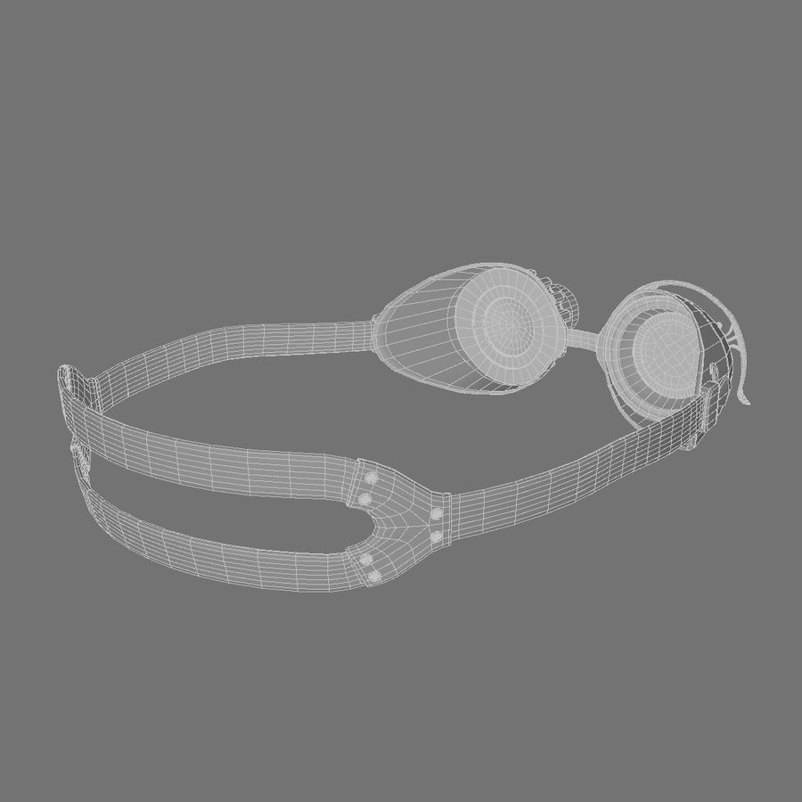 SteamPunk Goggles IS-I royalty-free 3d model - Preview no. 11