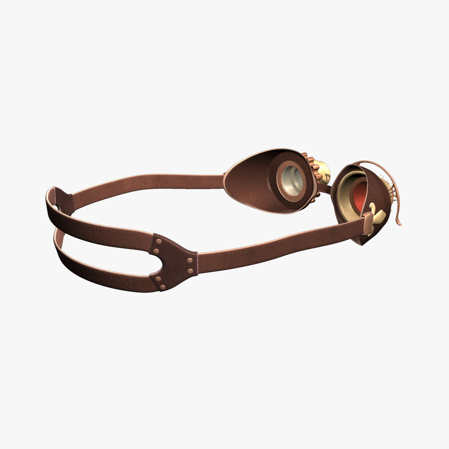 SteamPunk Goggles IS-I royalty-free 3d model - Preview no. 6