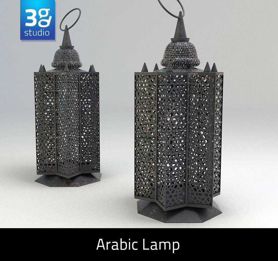 Arabic Lamp 3 royalty-free 3d model - Preview no. 1