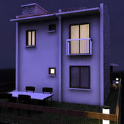 Dublex Villa dia-noite 3d model
