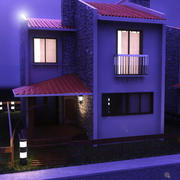 Dublex Villa Day-Night 3d model