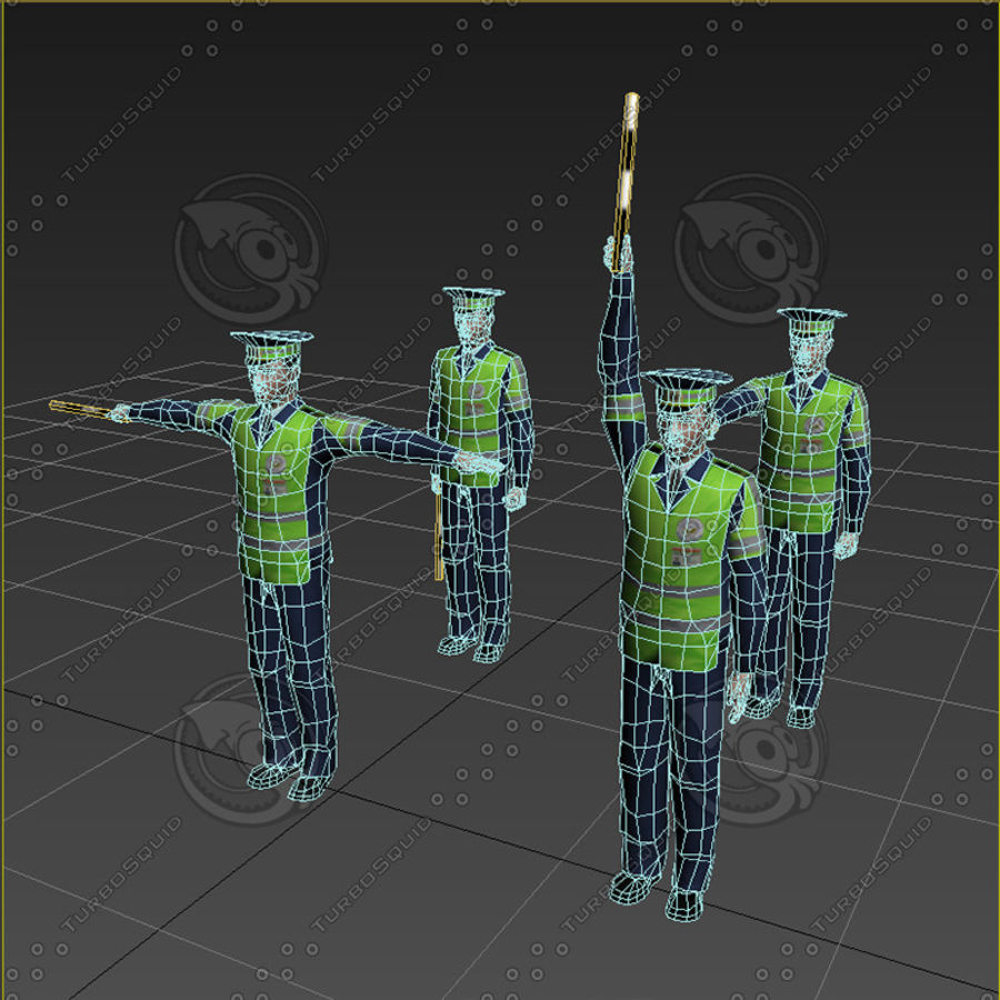 Polis royalty-free 3d model - Preview no. 18