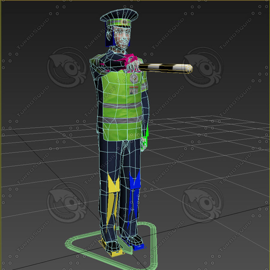 Polis royalty-free 3d model - Preview no. 16