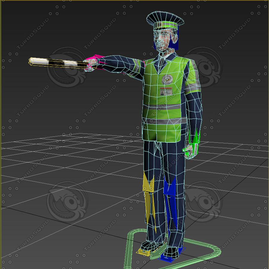 Polis royalty-free 3d model - Preview no. 17