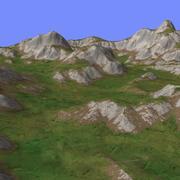 Grassy Terrain TM1-01 3d model