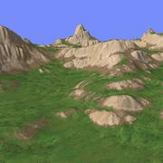 草地地形TM1-02 3d model