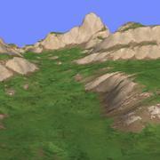 Trawiasty teren TM1-02 3d model
