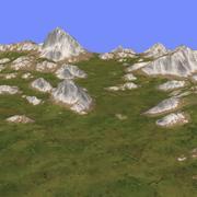 草地地形TM1-03 3d model