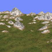 Trawiasty teren TM1-03 3d model