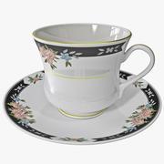 Teetasse und Untertasse 3d model