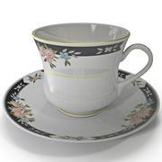 Tea Cup and Saucer 3d model
