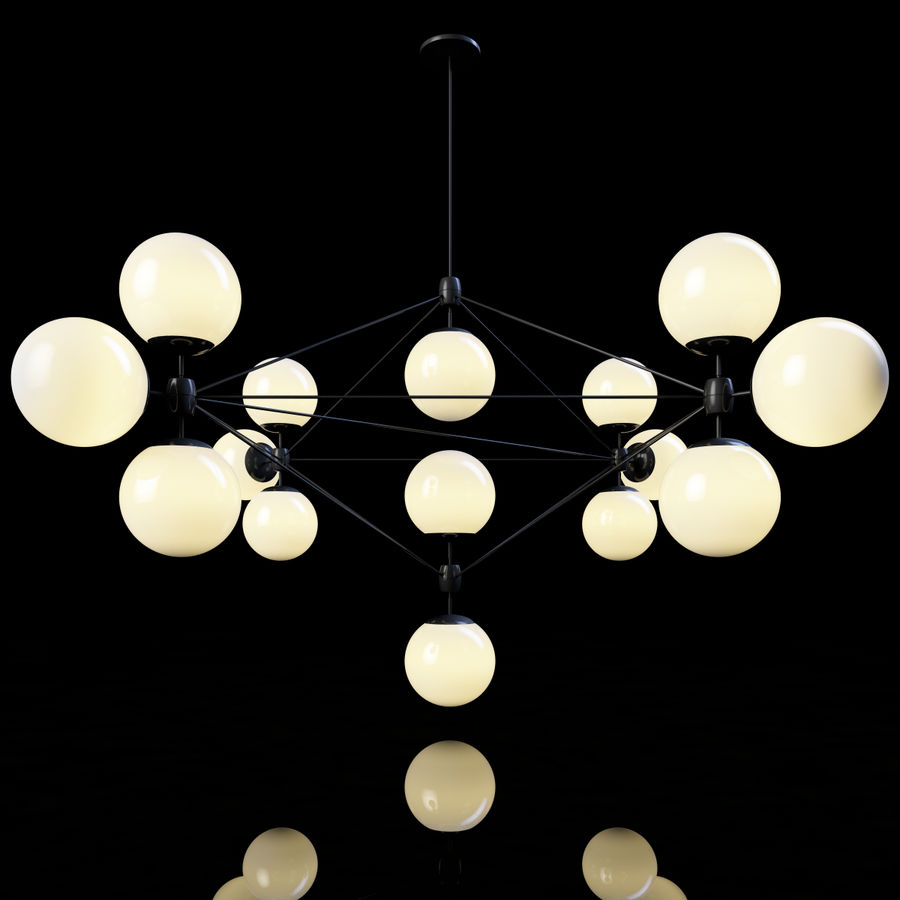 Roll & Hill Modo Chandelier royalty-free 3d model - Preview no. 1