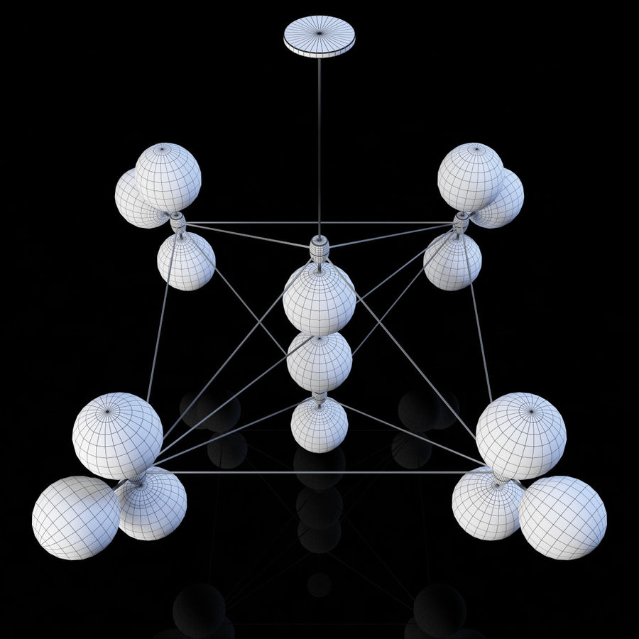 Roll & Hill Modo Chandelier royalty-free 3d model - Preview no. 5