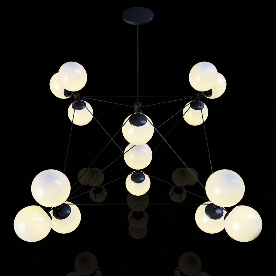 Roll & Hill Modo Chandelier royalty-free 3d model - Preview no. 2