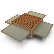Coffee Table with Side Extenders 3d model