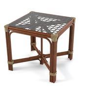 Стол из ротанга 3d model