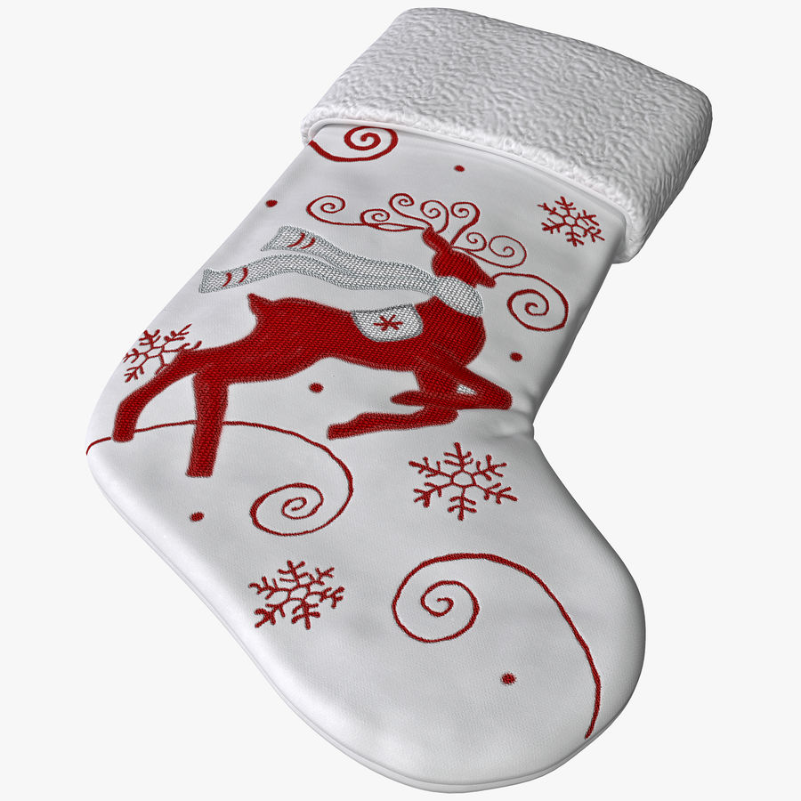 Christmas Stocking royalty-free 3d model - Preview no. 1