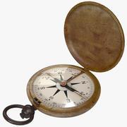 Gammalt kompass 3d model