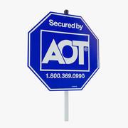 Segno di sicurezza domestica 3d model
