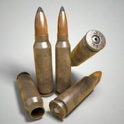 Fotorealistisk rund ammunition för tappningpatron 3d model