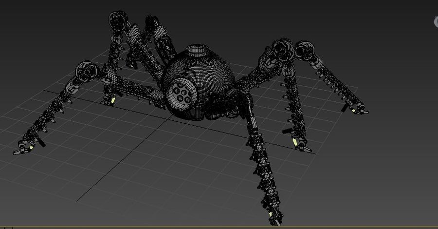 Spider Robot royalty-free 3d model - Preview no. 5