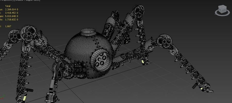 Spider Robot royalty-free 3d model - Preview no. 4