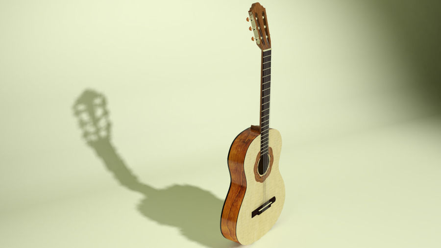 classic guitar royalty-free 3d model - Preview no. 1