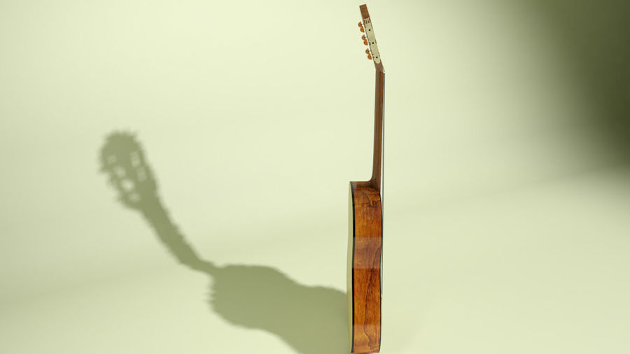 classic guitar royalty-free 3d model - Preview no. 9