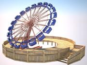 Tilt a whirl 3d model