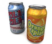 Aluminum Soda Beverage Can 3d model
