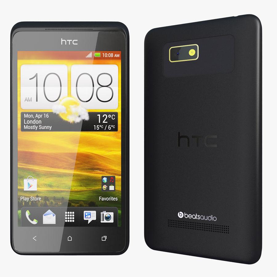 Wersja HTC Desire 400 Black royalty-free 3d model - Preview no. 1