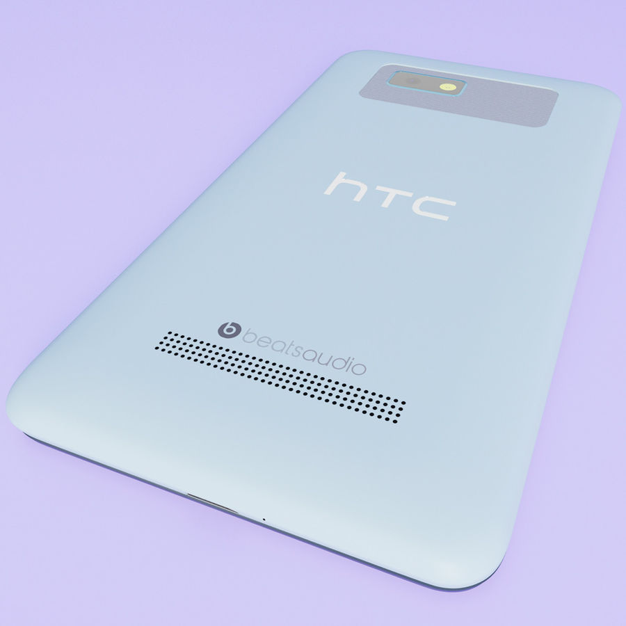 HTC Desire 400ライトブルーバージョン royalty-free 3d model - Preview no. 10